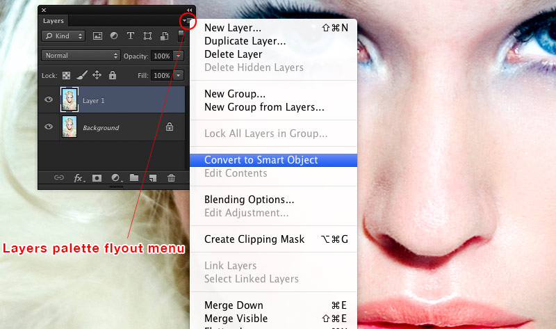 Convert to smart object in the layers fly out menu in Photoshop allow for non-destructive image editing